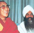 Yogi Bhajan with The Dalai Lama