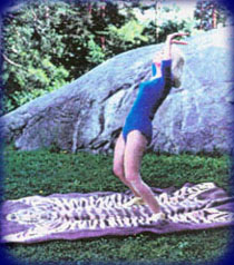 Eugenia in Step 13 of The Moon Salutation.